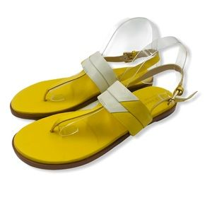 Cole Haan yellow and white sandals